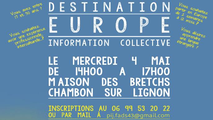 Actualités - Destination Europe