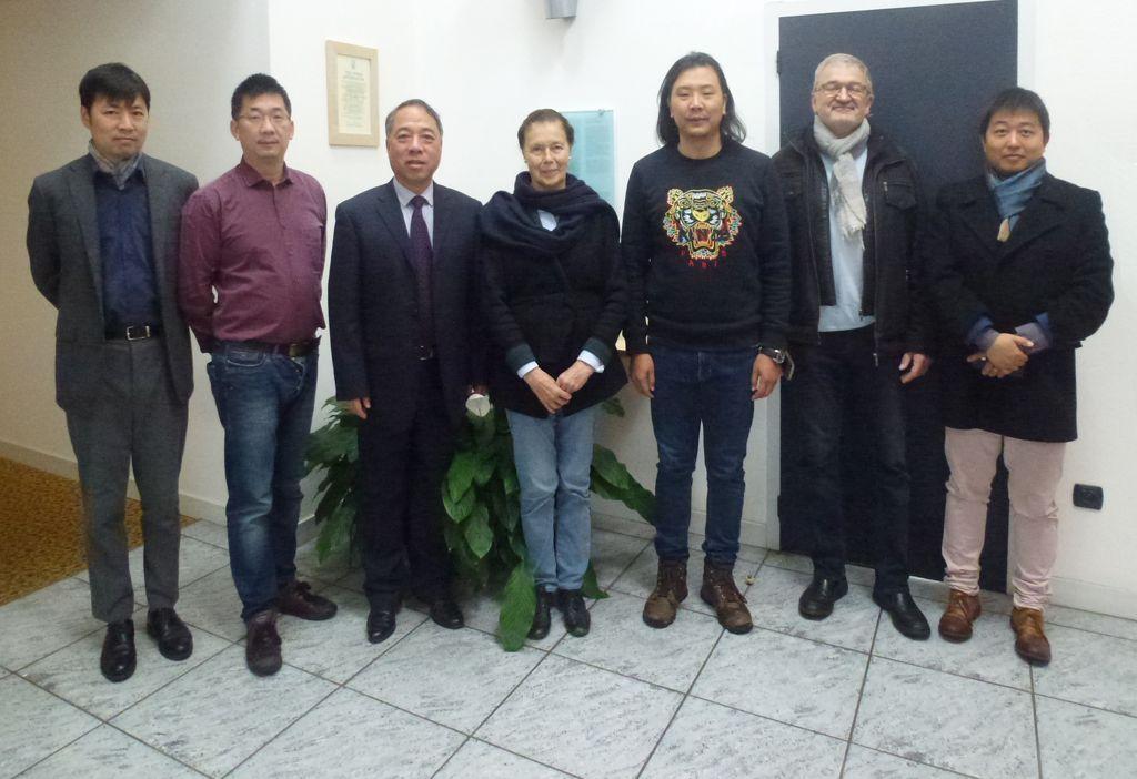 Visite du Dr. GAN, Président de l'université de Juijiang et vice président de l'université de Nanchang