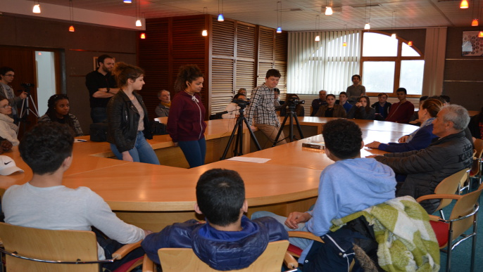 Actualités - Visite des élèves de 3ème du Collège André Malraux de Paron