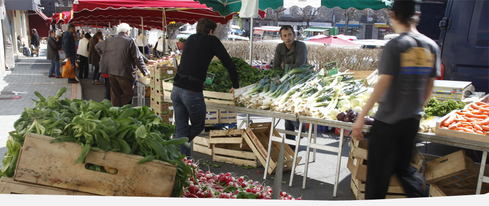 Le marché du Chambon
